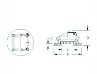 Schematic Diagram of PLF Series Circular Sight Glasses with Light
